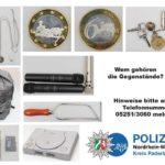 Paderborn  POL-PB: Besitzer von sichergestelltem Diebesgut gesucht